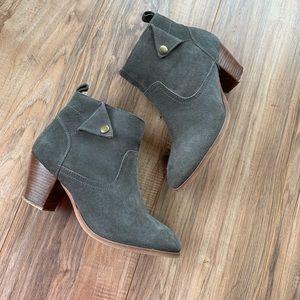 Diba Grey suede booties